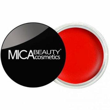 (Bundle of 3 Items)MicaBeauty Full Size Foundation MF6 Cream Caramel+Lip Color Pot+ Airplane Travel Cosmetic Bag (06 True Red)