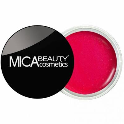 (Bundle of 3 Items)MicaBeauty Full Size Foundation MF8 Downtown Brown+Lip Color Pot+ Airplane Travel Cosmetic Bag (08 Vibrant Berry)