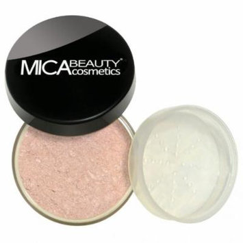(Bundle of 3 Items)MicaBeauty Full Size Foundation MF1 Porcelain+Face & Body Bronzer+Airplane Travel Cosmetic Bag (FB6 Rosy Pink)