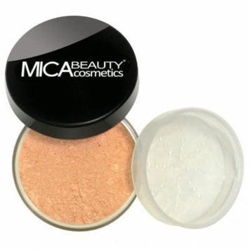 (Bundle of 3 Items)MicaBeauty Full Size Foundation MF10 Brown Points+Face & Body Bronzer+Airplane Travel Cosmetic Bag (FB2 Neutral)
