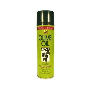 Organic Root Olive Sheen Spray 15.4 oz (3-Pack) with Free Nail File