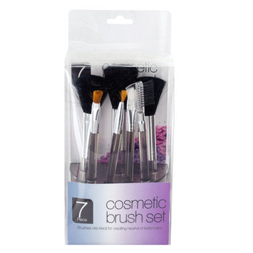 Cosmetic Brush Set In Standing Organizer (Pack Of 8)