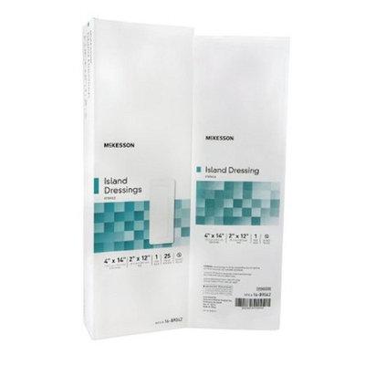 McKesson - Adhesive Dressing McKesson 4 X 14 Inch Polypropylene / Rayon Rectangle White Sterile - 25/Box - McK