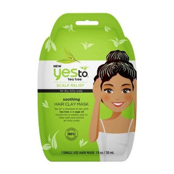 Yes To Tea Tree Scalp Relief Soothing Hair Clay Mask - 1 fl oz