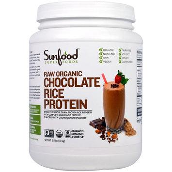 Sunfood, Raw Organic Chocolate Rice Protein, 2.5 lb (1.13 kg) [Flavor : Chocolate]