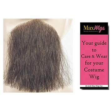 1 Point Discount Goatee Color LT GREY - Lacey Wigs Beard Synthetic Lace Backed Hand Made Fake Facial Bundle with MaxWigs Costume Wig Care Guide