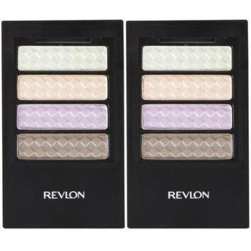 Colorstay 12 Hour Eye Shadow Quad WILDFLOWER 370 (PACK OF 2 QUAD PALETTES) BY REVLON