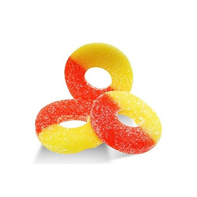 Albanese Confectionery Albanese, Gummi Ring Peach (2 Lbs)