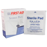Sterile Gauze Pads 2 Inches x 2 Inches 100 Pads MS-40210 American White Cross