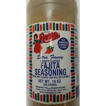 Bolner's Fiesta Brand Mesquite Flavored Fajita Seasoning with Tenderizer 14 Oz