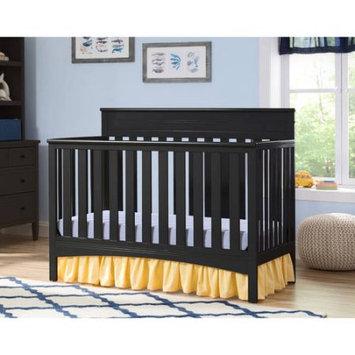 Delta Children Fabio 4-in-1 Convertible Fixed-Side Crib, Black