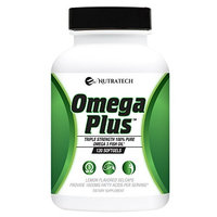 Omega Plus – 4x Strength Complete Fish Oil Supplement with Omega 3's. 1600MG of Essential Fatty Acids EPA and DHA Per Serving