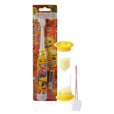Emoji Inspired 2pc Bright Smile Oral Hygiene Set! Turbo Spin Toothbrush & Brushing Timer! Plus