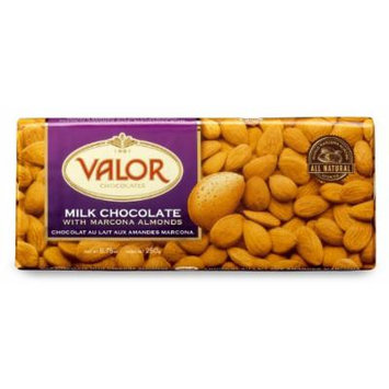 Valor Chocolates Milk with Marcona Almonds Bar, 8.75 Ounce