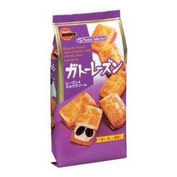 Bourbon Gateau Raisin Biscuits, 6pcs/bag X 3 Bags [Japan Import]