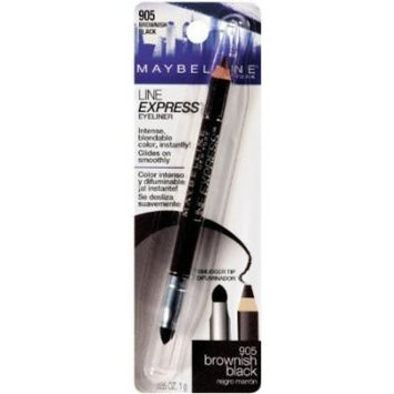 Maybelline New York Line Express Eyeliner, Brownish Black 905, 0.035 Ounce (Pack of 2)
