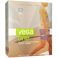 Vega, One Bar, Chocolate Coconut Cashew, 12 Bars, 2.26 oz (64 g) Each(pack of 2)