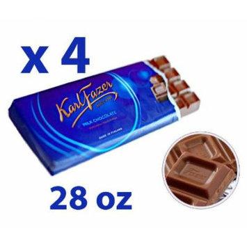 4 Bars of Karl Fazer Finland Original Milk Chocolate