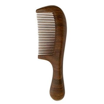 Homyl Pocket Handmade Beard Moustache Comb Fine Teeth Sandalwood Comb Anti-Static