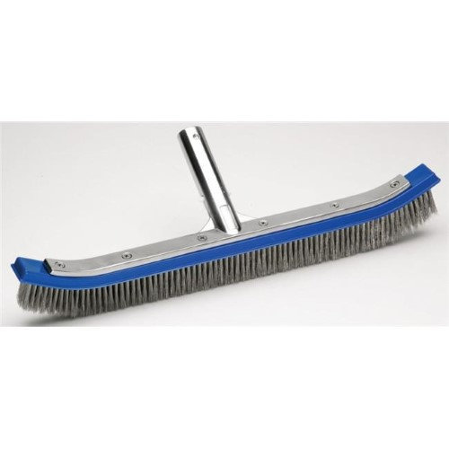 Ocean Blue Water Products 110017B 18 in. Curved Algae Brush with Aluminum Back