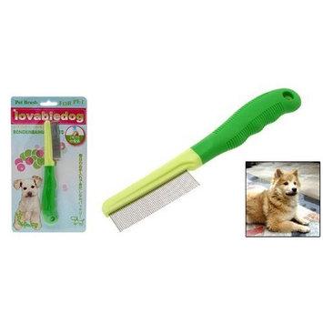 Jardin Fine Steel Tooth Pet Cat Dog Grooming Comb, Green
