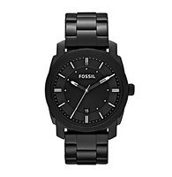 Fossil Machine Black Dial Black-plated Mens Watch FS4775