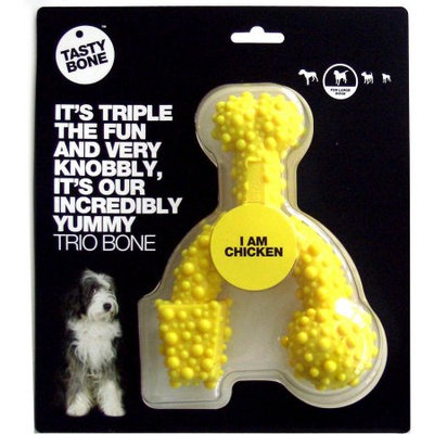 Tasty Bone Nylon Chicken Trio Bone, Large