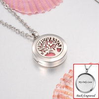 Personalized Mini Tree of Life Aromatherapy Essential Oil Diffuser Necklace