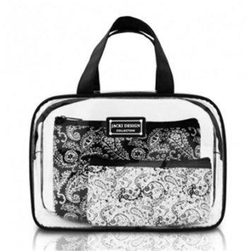 Jacki Design Mystique 3 Piece Cosmetic Bag Set Red - Jacki Design Ladies Cosmetic Bags
