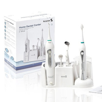 Smarson Home Dental Center, Water Flosser and Toothbrush, Attachments and Base Included