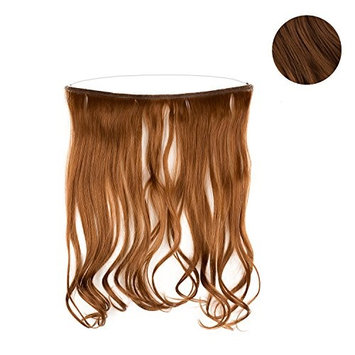 Full Extensions 18' Easy To Use Synthetic Headband Extensions (Medium Brown)