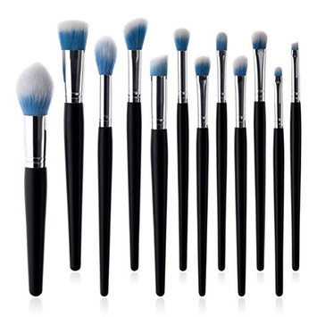 Fineser Professional Makeup Brushes Kit 12pcs - Cosmetic Makeup Brushes Foundation Eyebrow Eyeliner Blush Cosmetic Brushes Beauty Tools Brush