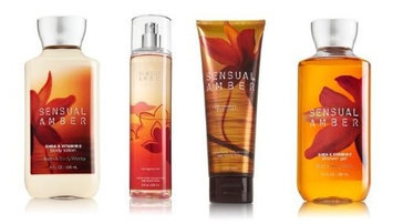 Bath Body Works Signature Collection Sensual Amber Gift Set Body Cream Shower Gel Body Lotio