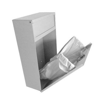 Sanitary napkin disposal receptacle, surface mount, white finish, steel