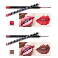12 PC Different Colors Ultra Fine Lip Liner Lip contour Lip Liner Pencil , Set of 12 Professional Waterproof Lip Liner Pencils