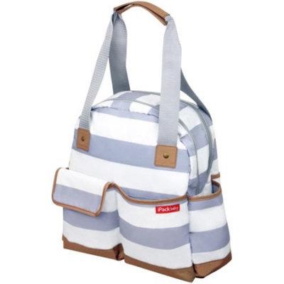 iPack Bowling Diaper Bag, White/Gray