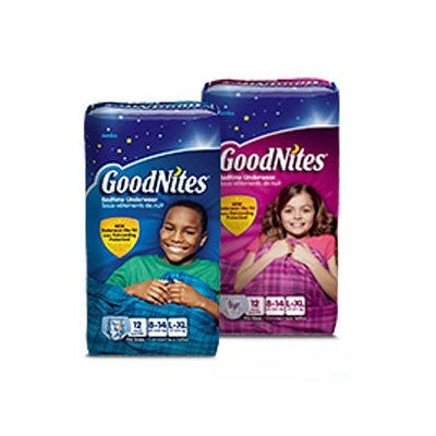 Youth Absorbent Underwear GoodNites Pull On Small / Medium Disposable Moderate Absorbency Case of 56 - 8 Pack
