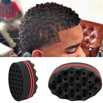 Braceus Hair Small Wave Twists Magic Sponge Brush for Locking Coil Afro Curl Barber Tool