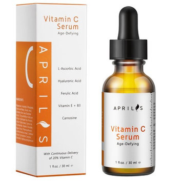 Aprilis 20% Vitamin C Serum with Hyaluronic Acid & Vitamin E, Organic Anti-Aging & Anti-Wrinkle Facial Serum, Dark Circle, Fine Line & Sun Damage Corrector, Restoring & Boost Collagen, 1 fl. oz.