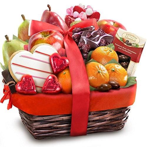 Valentine Treasures Fruit Gift Basket [Valentine Treasures]