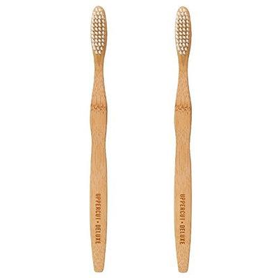 Uppercut Deluxe Bamboo Wooden Medium Bristle Toothbrush Pack of 2