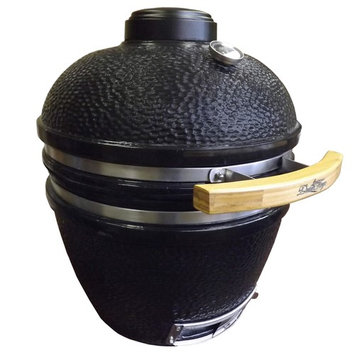 Factory Buys Direct.com Duluth Forge Ceramic Charcoal Kamado Grill and Smoker- Medium Model