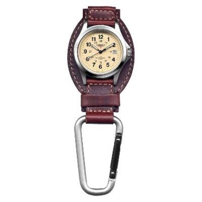 Men's Dakota Leather Clip Watch