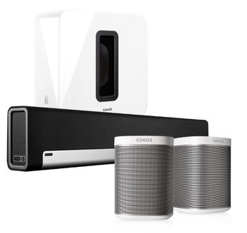 Sonos PlayBar Soundbar Play:1 White Pair Wireless Speakers with SUB Kit