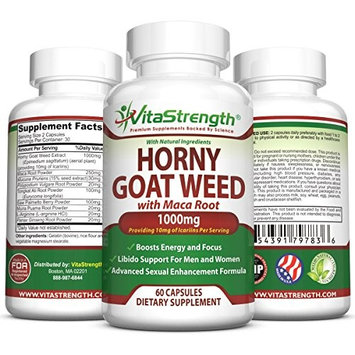 Premium Horny Goat Weed With Natural Herbs For Both Women And Men – Complete Formula Of Horny Goat Extract, Maca Root, GInseng, Saw Palmetto & Tongkat Ali