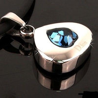Electrified.com ELECTRIFIED FEEL BETTER Pear Pendant Necklace Blue MADE WITH SWAROVSKI Crystal