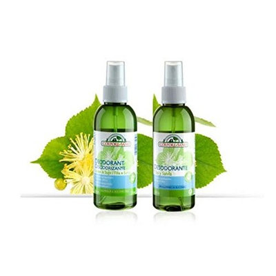 (2-Pack) Corpore Sano Natural Non Staining Gas-free Spray Deodorants- Certified Bio Extract- Linden & Sage 150ml. : Beauty