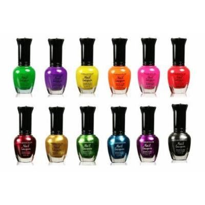 Kleancolor Nail Polish - Awesome Metallic Neon Full Size Lacquer Lot of 12-pc Set