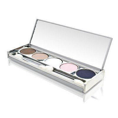 Longcils Boncza Eye Shadow Palete with 5 Colors Includes: Deep Sky Blue + Pink + Mar White + Satin Beige + Satin...