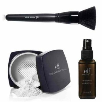 elf Studio High Definition Loose Face Powder With Makeup Mist and Set, Clear, 2.02 Ounce and Studio Powder Brush...